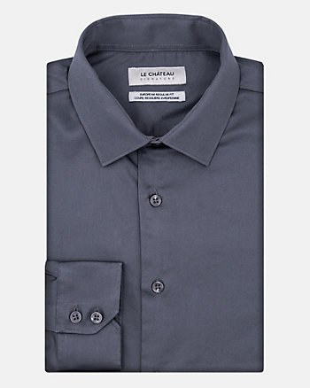 Cotton Sateen Regular Fit Shirt