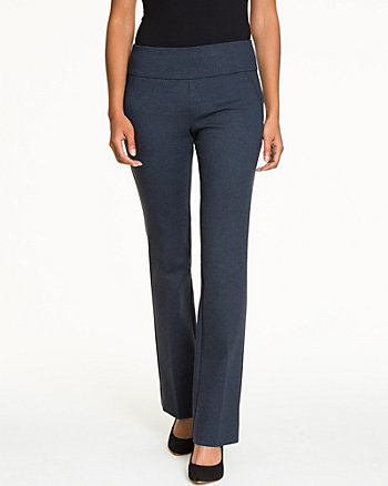 Ponte Twill Slight Flare Pant