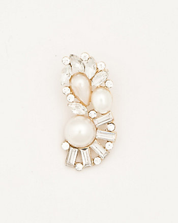 Pearl-Like & Gem Ear Cuff