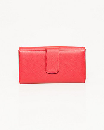 Leather-Like Multi-Compartment Wallet