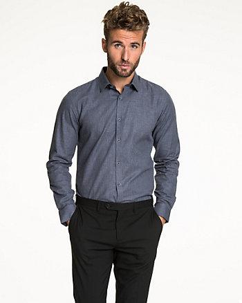 Chemise à motif pied-de-poule en coton