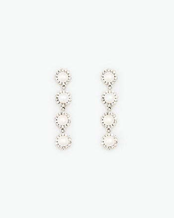 Pearl-Like & Gem Earrings