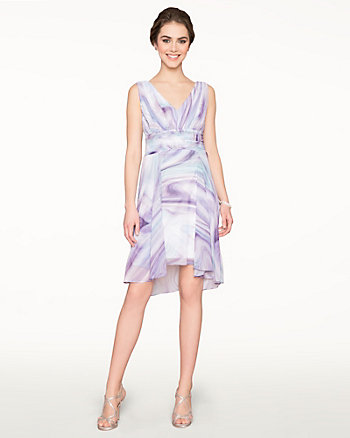 Chiffon V-Neck Cocktail Dress