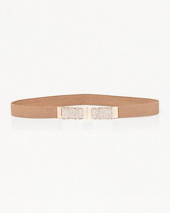Jewel Embellished Elastic Belt