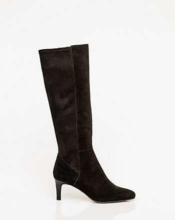 Suede & Suede-Like Mid Calf Boot