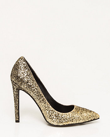 Ombré Glitter Pointy Toe Pump