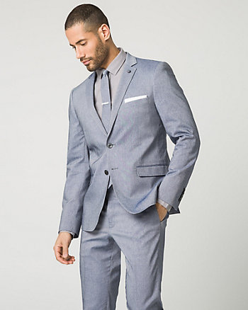 Tonal Stretch Twill Contemporary Fit Blazer