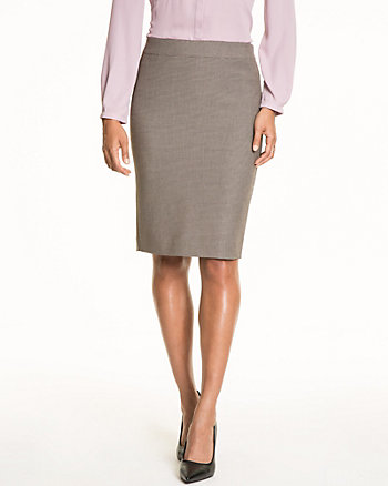 Woven Pencil Skirt