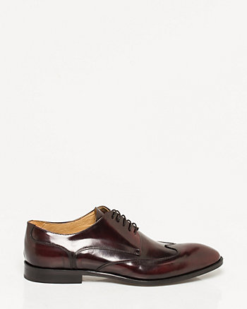Italian-Made Leather Wingtip Derby