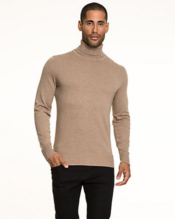 Cotton Slim Fit Turtleneck