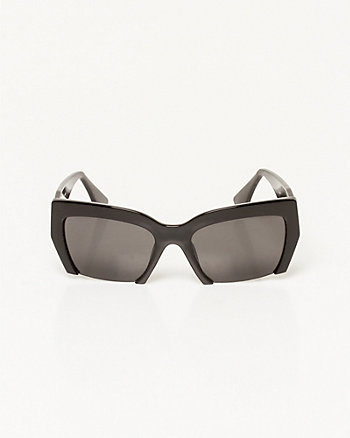 Square Frame Cut-Out Sunglasses