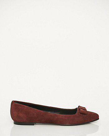 Suede Pointy Toe Ballerina