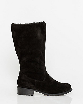 Suede Mid Calf Boot