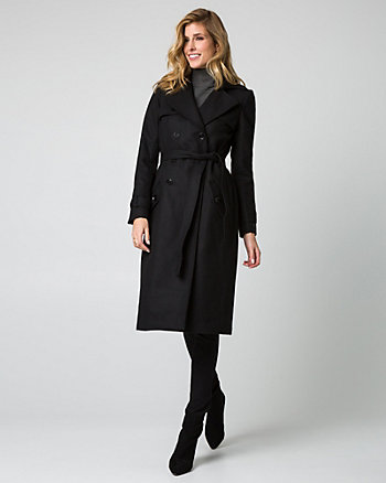 Wool Blend Melton Coat