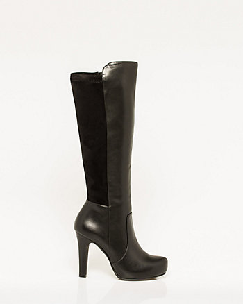 Leather-Like & Suede-Like Knee-High Boot
