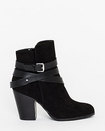 Leather-Like & Suede-Like Ankle Bootie
