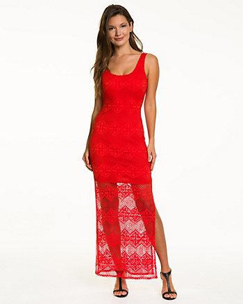 Crochet & Knit Combo Maxi Dress