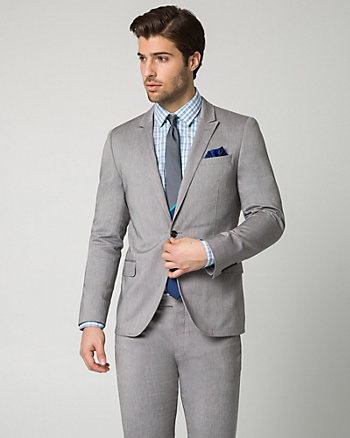 Two-tone Twill Slim Fit Blazer