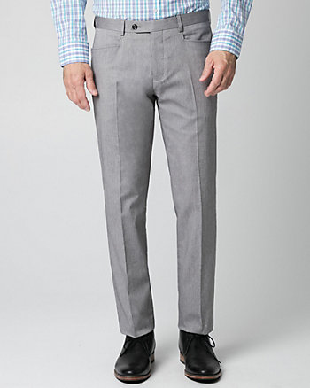 Cotton Twill Slim Leg Pant