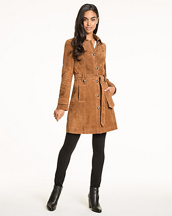 Suede Belted Coat