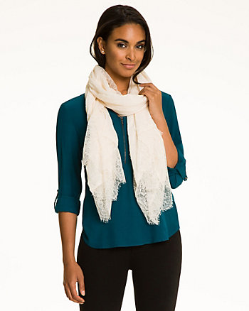 Lace & Twill Scarf