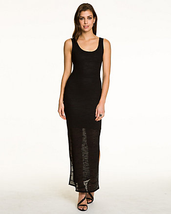 Crochet Scoop Neck Maxi Dress