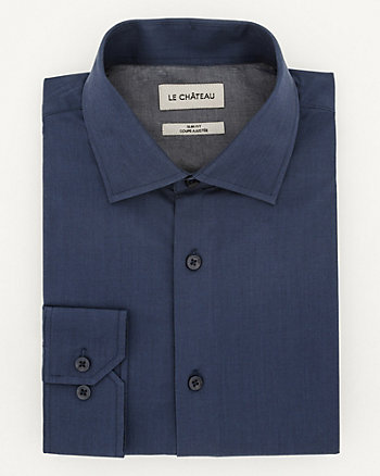 Cotton Twill Slim Fit Shirt