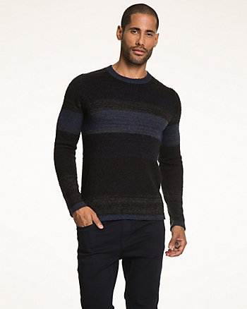 Tonal Knit Crew Neck Sweater