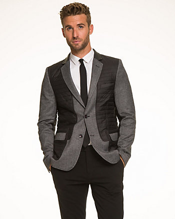 Tonal Wool Blend City Fit Blazer
