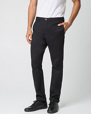 Pantalon à jambe étroite en sergé de coton