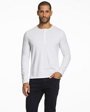 Jersey Henley Top