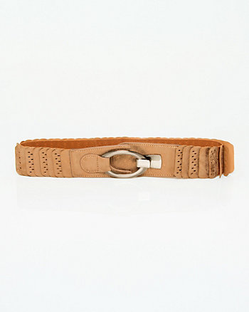 Faux Leather Metallic Belt