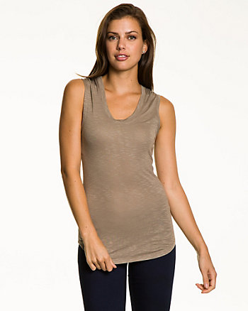Jersey Scoop Neck Tank Top