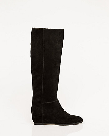 Suede Concealed Wedge Boot