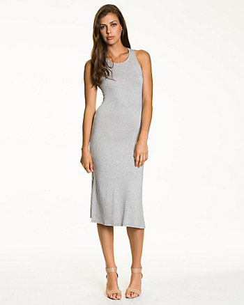 Jersey Racer Back Midi Dress