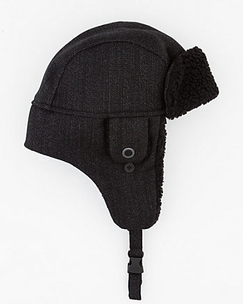 Wool Twill Aviator Hat