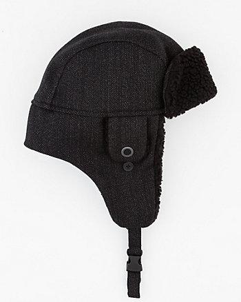Chapeau d'aviateur en sergé de laine
