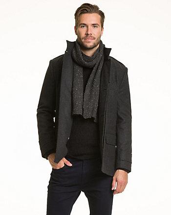 Écharpe en tricot à côtes d'acrylique