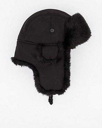 Nylon & Faux Fur Trapper Hat