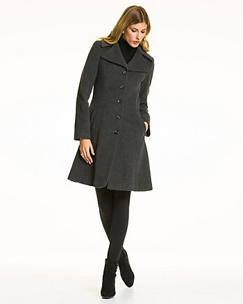 Cashmere Blend Notch Collar Coat