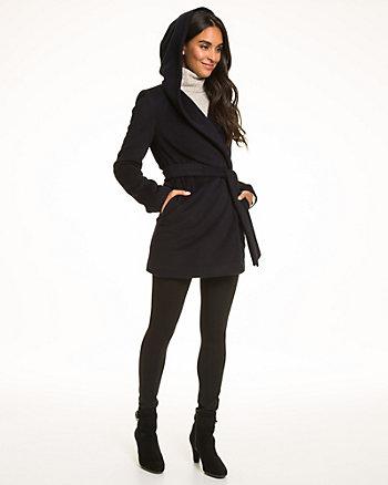 Cashmere Blend Wrap Coat