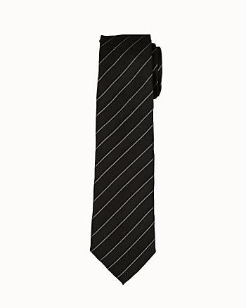 Diagonal Stripe Silk Blend Tie