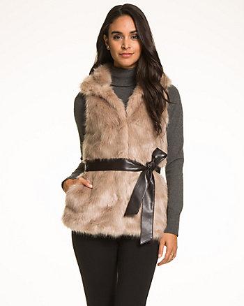 Faux Fur Belted Vest