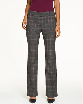 Check Woven Slight Flare Pant