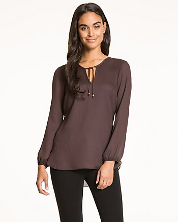 Satin Scoop Neck Blouse