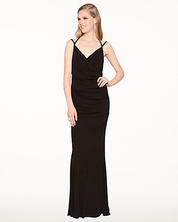 Jersey Criss-Cross Tank Top Gown