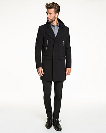 Double Weave Notch Collar Coat