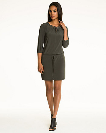 Knit Boat Neck Tunic Dress