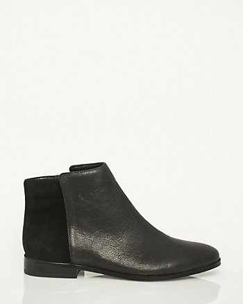 Leather & Suede Ankle Boot
