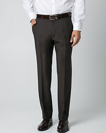 Italian-Made Wool Tapered Pant